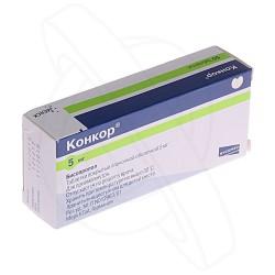 Конкор, табл. п/о пленочной 5 мг №50
